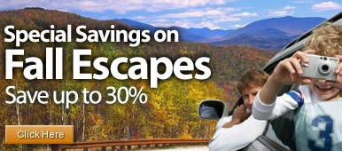 Special Savings on Fall Escapes - Save up to 30%
